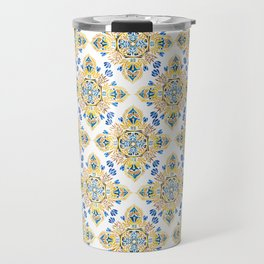 Wheat field with cornflower - mandala pattern Travel Mug