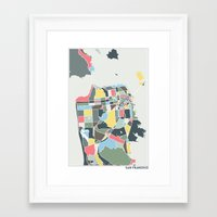 san francisco Framed Art Prints featuring San Francisco. by Studio Tesouro