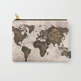 Coffee World Map Carry-All Pouch