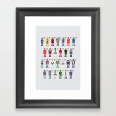 Transformers Alphabet Framed Art Print