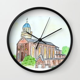 University of Dayton watercolor, UD Chapel, Dayton, OH Wall Clock