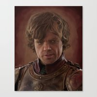 lannister Canvas Prints featuring Peter Dinklage as Tyrion Lannister Digital Portrait by davidgloyolart