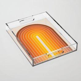 Gradient Arch - Vintage Orange Acrylic Tray