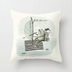 'Raft' (Colour) Throw Pillow