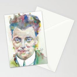 WOLFGANG PAULI - watercolor portrait Stationery Cards