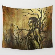 Dark Dryad Wall Tapestry