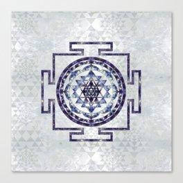 Sri Yantra  / Sri Chakra Gemstone and pearl Canvas Print