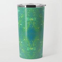 Green Abstract Bright Pattern 1 Travel Mug