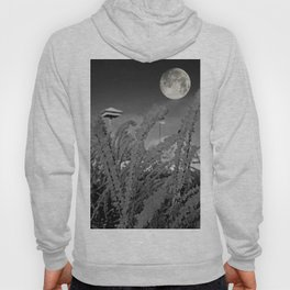 Snow crystals with moon Hoody