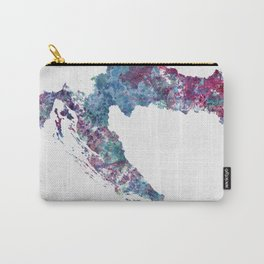 Croatia map Carry-All Pouch