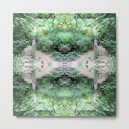 Abstract Forest Mandala 1567 Metal Print
