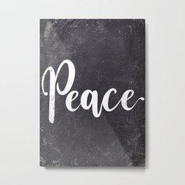 peace chalkboard text art Metal Print