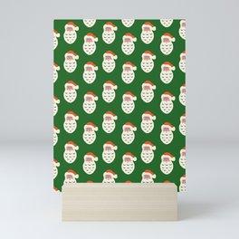 Santa Head Print Mini Art Print