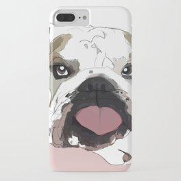 English Bulldog Love iPhone Case