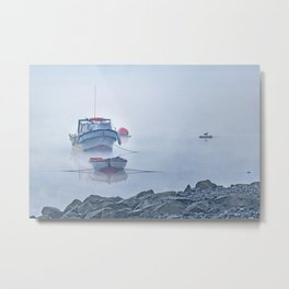 Foggy Scene Puyuhuapi Lake, Patagonia, Chile Metal Print