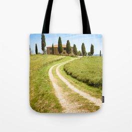 countryside landscape on summer Tote Bag