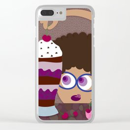 For Days She Ate Brownies Clear iPhone Case