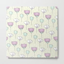 flowers pattern zz Metal Print