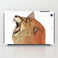 birthday iPad Cases featuring Birthday Lion by Sandra Dieckmann