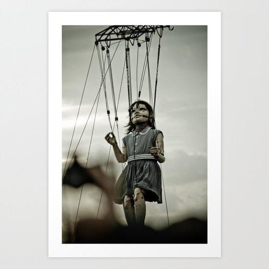 Girl Giant Art Print
