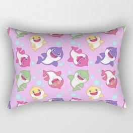 Baby Shark Doo Doo Family - Pink Pastel Version Print Rectangular Pillow
