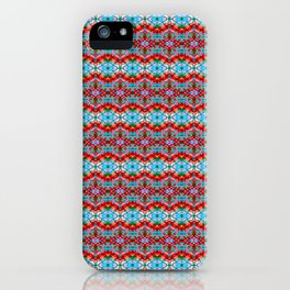 Red Spanish Tile Stripes iPhone Case