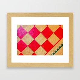 Vibrant Checkmate Framed Art Print