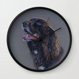 English Cocker Spaniel art print Wall Clock