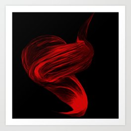 Color Me Red Art Print