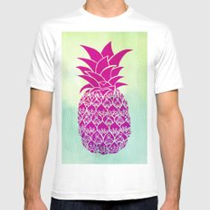 Pink Pineapple Mens Fitted Tee X-LARGE White