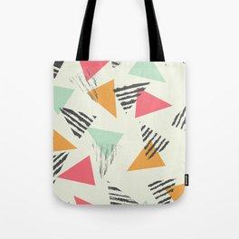 Geometric Mint Pattern Design 015 Tote Bag