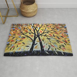 Abstract Art Landscape Original Painting ... New Day Dawning Rug