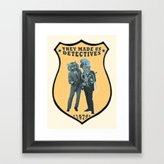 They Made Us Detectives (1979) - REMiX Framed Art Print