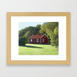 Swedish Cottage  Framed Art Print