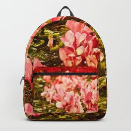 Pretty in Pink (and Red Flowers on a Rainy Night) Backpack