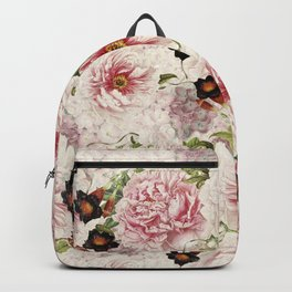 Small Vintage Peony and Ipomea Pattern - Smelling Dreams Backpack