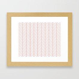 Herringbone - Fiesta Framed Art Print