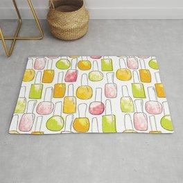 Nail Polish   Yellow Green Peach Pattern Rug