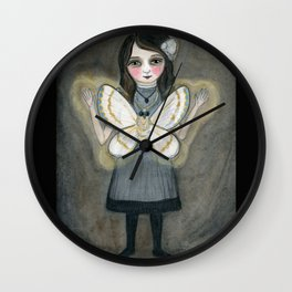 The Moth Girl, Victorian Portrait Wall Clock