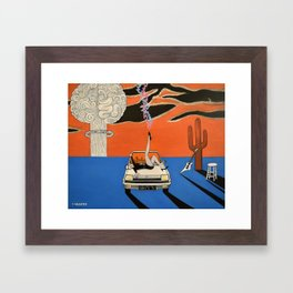 as a courtesy to a client Framed Art Print