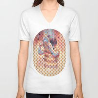 third eye V-neck T-shirts featuring Third eye by Cristian Blanxer