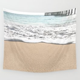 Wave Foam // California Ocean Pier Sandy Beaches Surf Country Pacific West Coast Photography Wall Tapestry