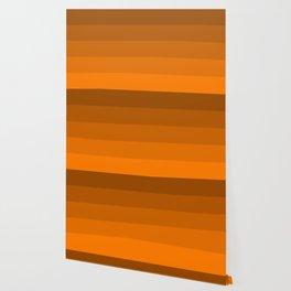Orange Brown Stripes Wallpaper