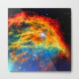 Rainbow Medusa Nebula Metal Print