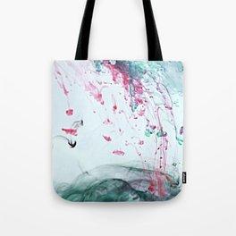 Raspberry Ocean Ink Fluid Tote Bag