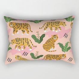 Vintage Tiger Print Rectangular Pillow