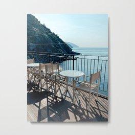 Ocean Breakfast View in Vernazza Cinque Terre | Italy Art Print | Fine Art Travel Photography Print Metal Print