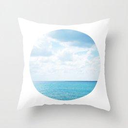 Spotting the Sea Throw Pillow