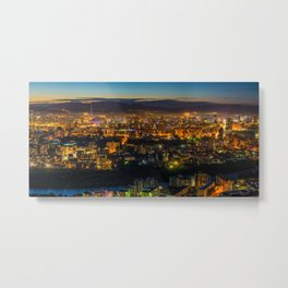 Aerial View of Ulaanbaatar, Mongolia at Dusk Metal Print