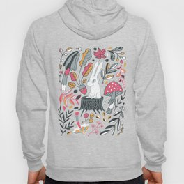 Botanical blockprint bunny Hoody